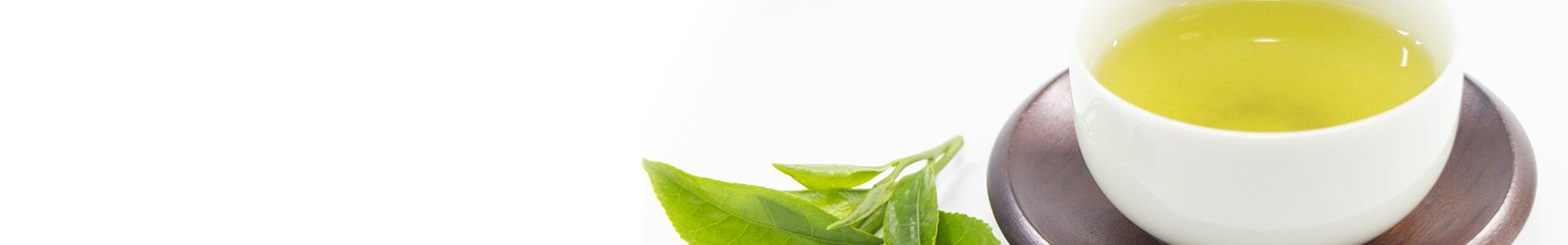 写真:お茶と茶葉